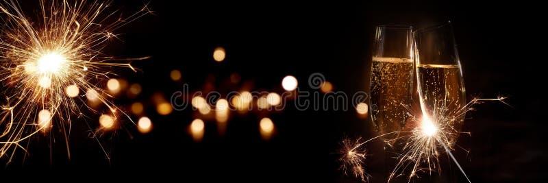 香槟前夕新年度 免版税图库摄影