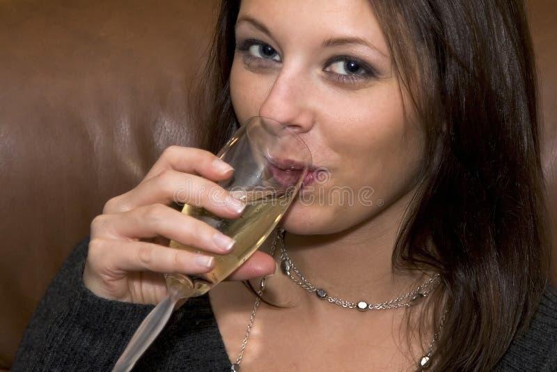 香槟啜饮 图库摄影