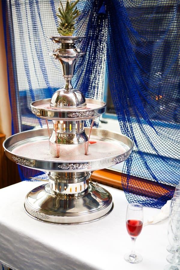 香槟喷泉 免版税库存图片