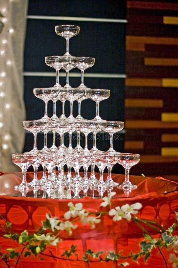 香槟喷泉 免版税库存照片