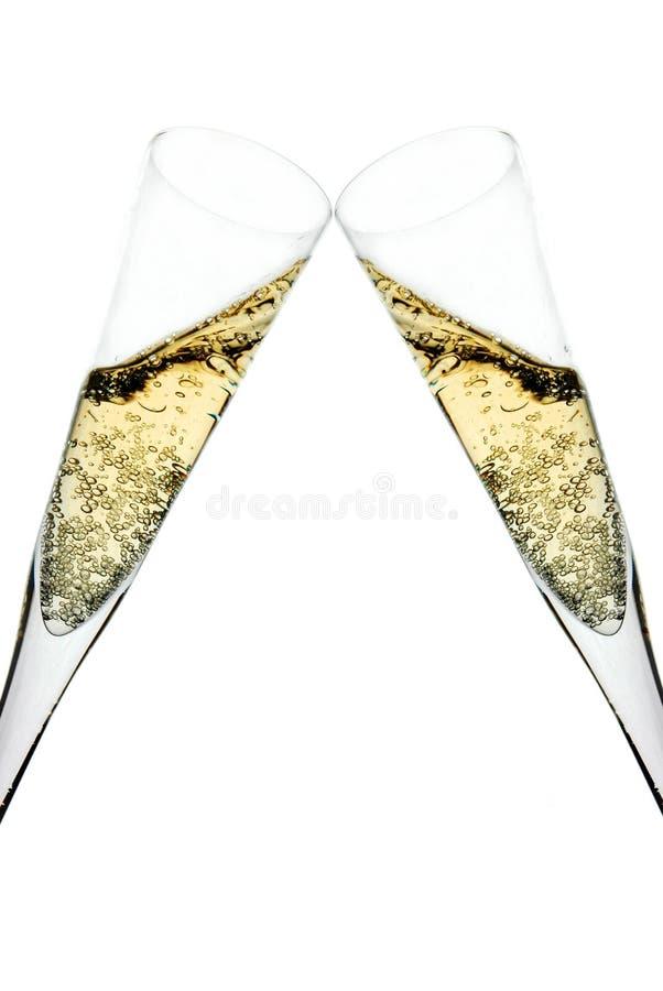 香槟多士 免版税库存照片