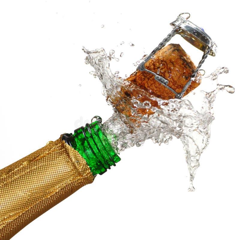 香槟展开 免版税库存照片