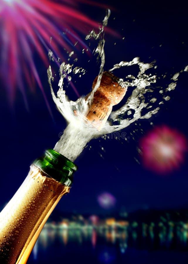 香槟接近的黄柏突然出现 库存图片