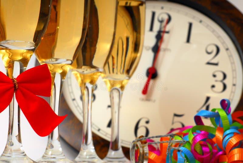 香槟新年度 免版税库存照片