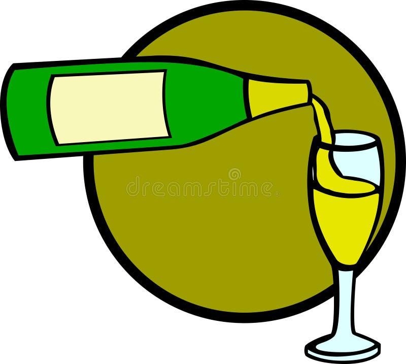 香槟杯子 皇族释放例证