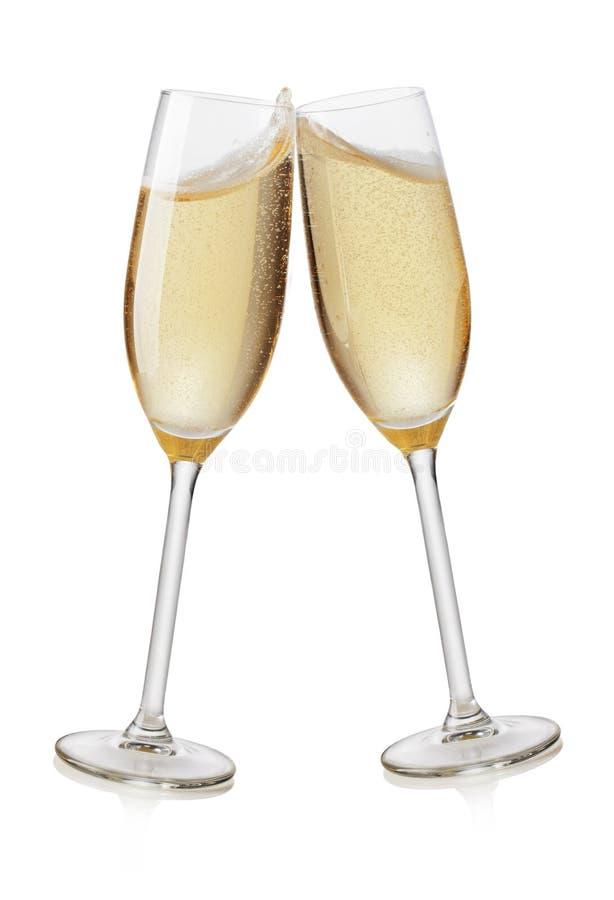 香槟槽敬酒 免版税库存图片