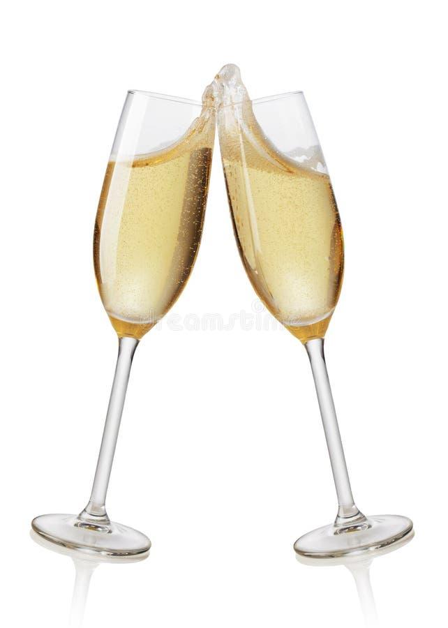 香槟槽敬酒 库存图片