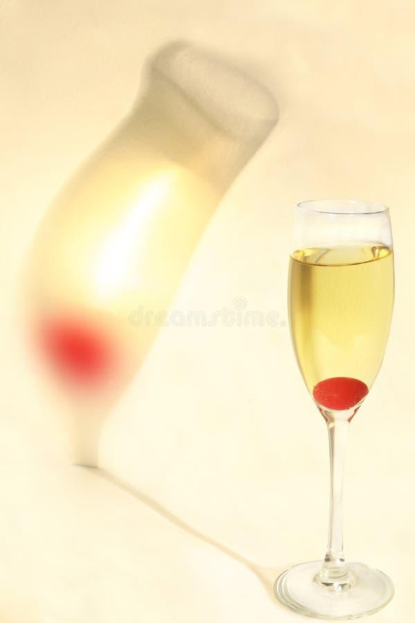 香槟樱桃影子 库存照片