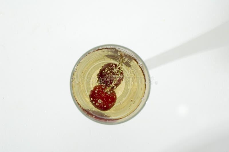 香槟樱桃 免版税库存图片