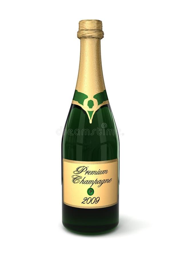 香槟溢价 库存例证