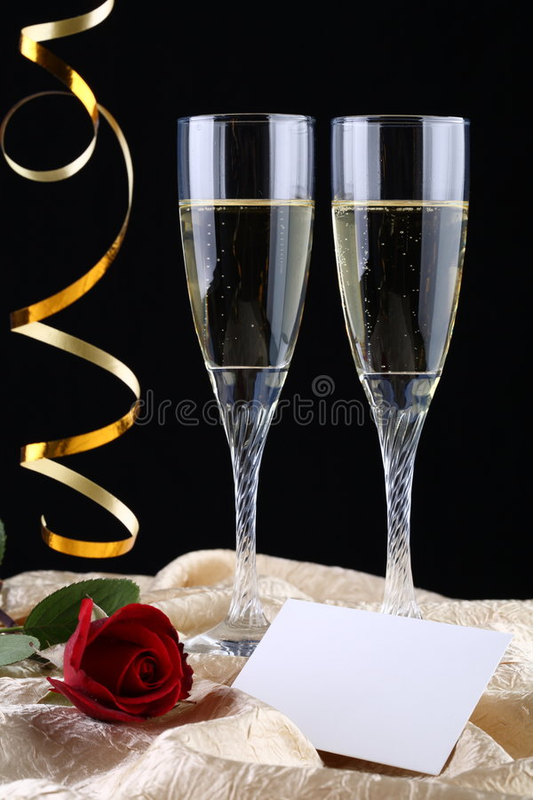 香槟玻璃二 免版税图库摄影