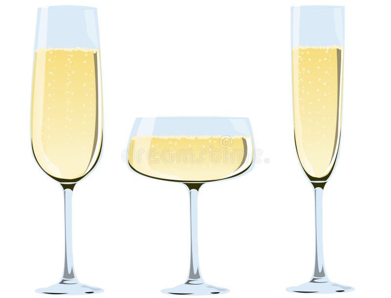 香槟玻璃 皇族释放例证