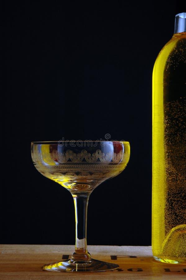 香槟玻璃 库存照片