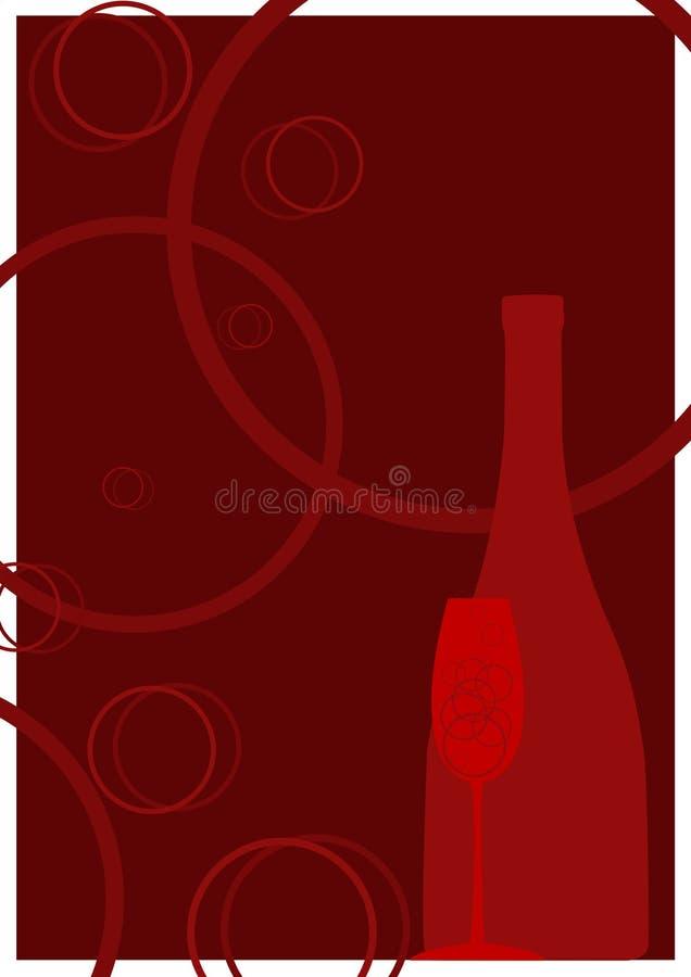香槟红色 免版税库存照片