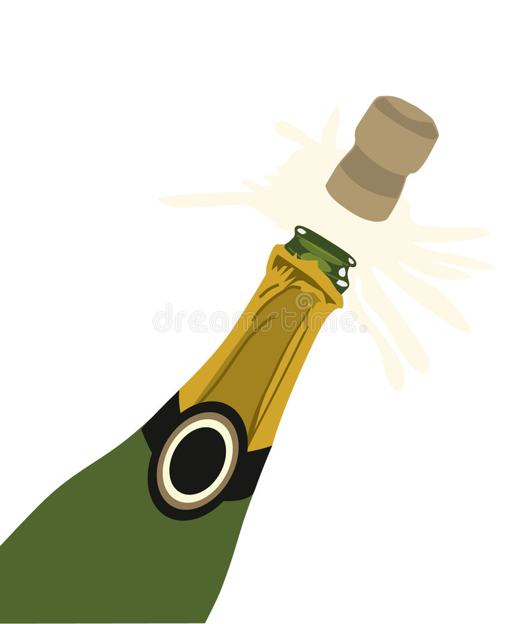香槟黄柏弹出 向量例证