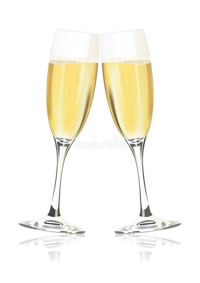 香槟 库存例证