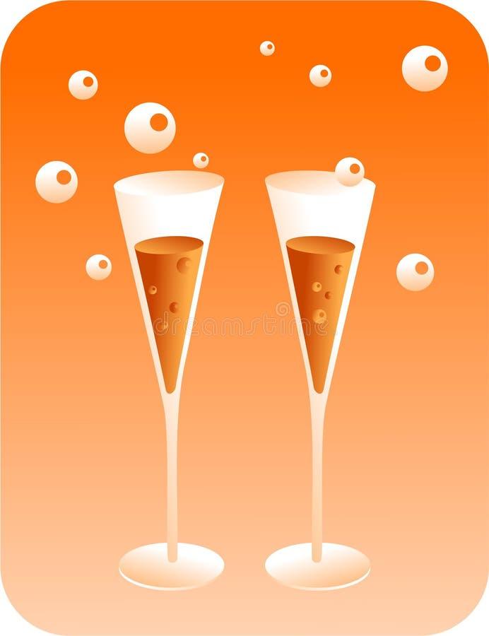 香槟 向量例证