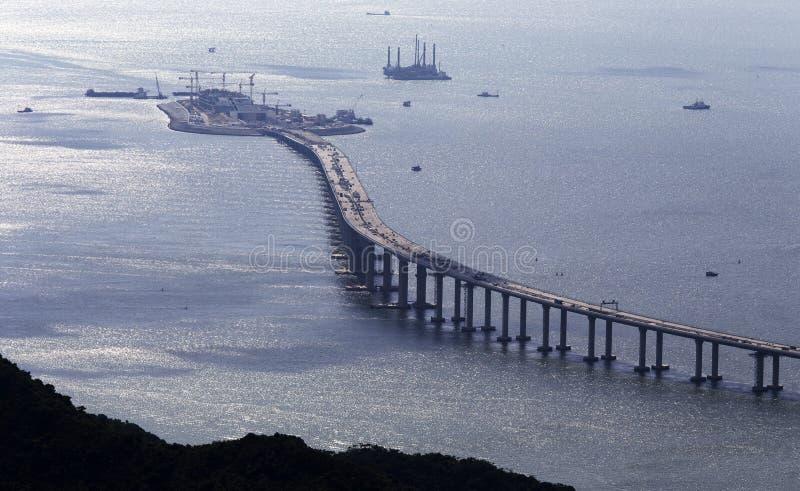 """香港†""""珠海†""""澳门桥梁HZMB 库存图片"""