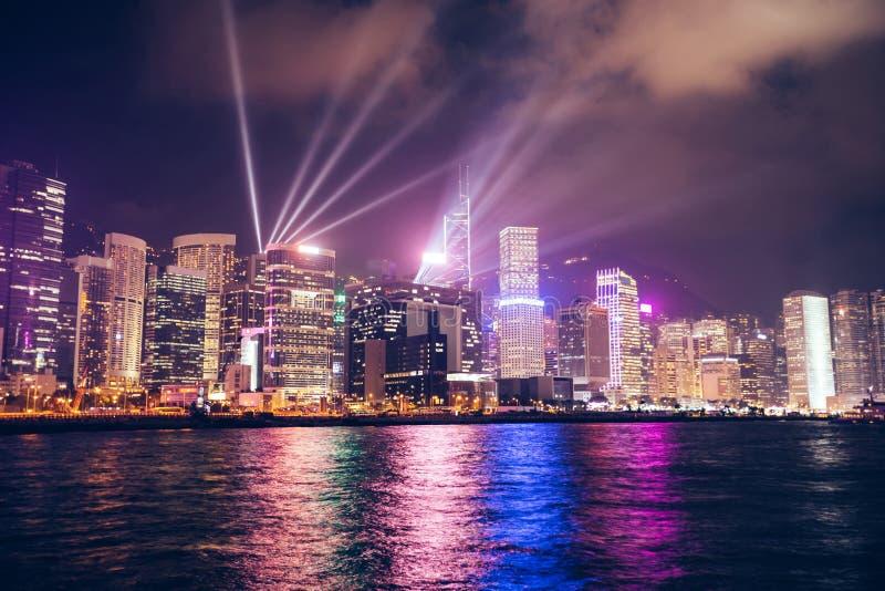 香港光显示 图库摄影