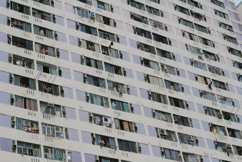 香港公共住房庄园射击  免版税图库摄影