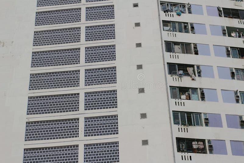 香港公共住房庄园射击  库存照片