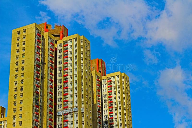 香港公共住房庄园射击  库存图片