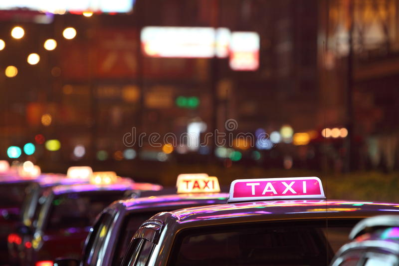 香港出租汽车 库存图片
