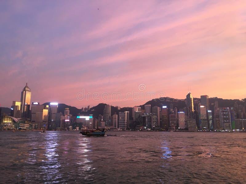 香港可爱的海视图 免版税图库摄影