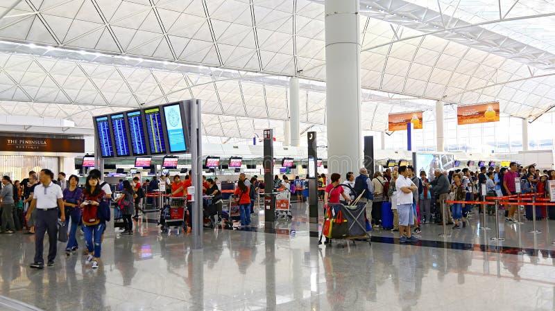香港国际机场检查抵抗 免版税库存图片