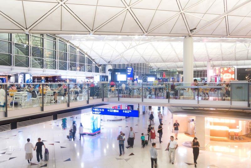 香港国际机场终端 免版税库存图片