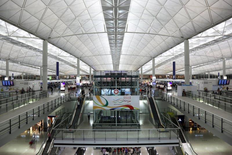 香港国际机场终端1 免版税图库摄影