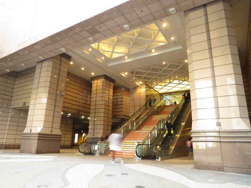 香港在大厅台阶的商城 库存图片