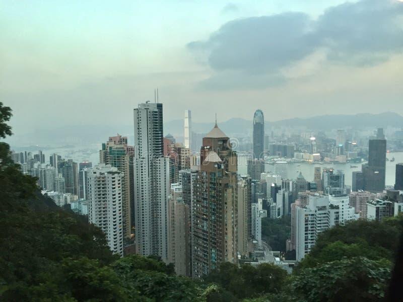 香港地平线上面 库存照片