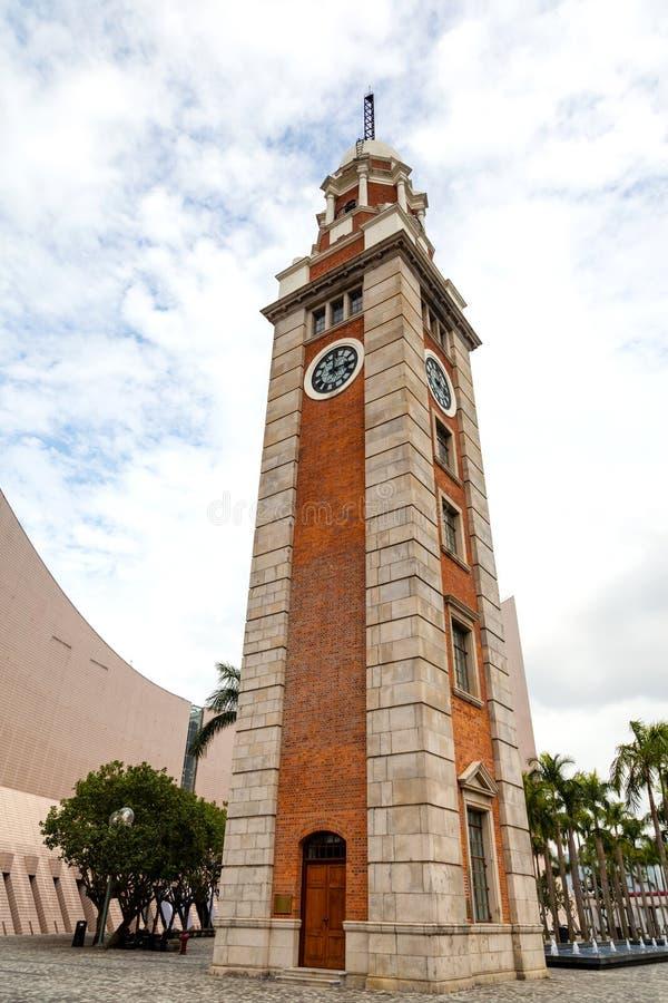 香港地标:尖沙咀尖沙咀钟楼 免版税库存照片