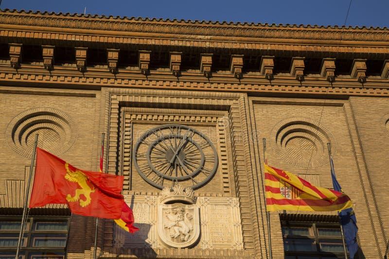 香港大会堂时钟,萨瓦格萨 库存图片