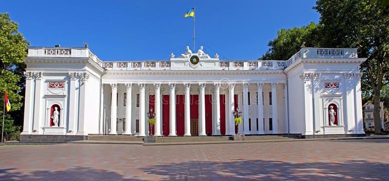 香港大会堂的宫殿,傲德萨,乌克兰 库存图片