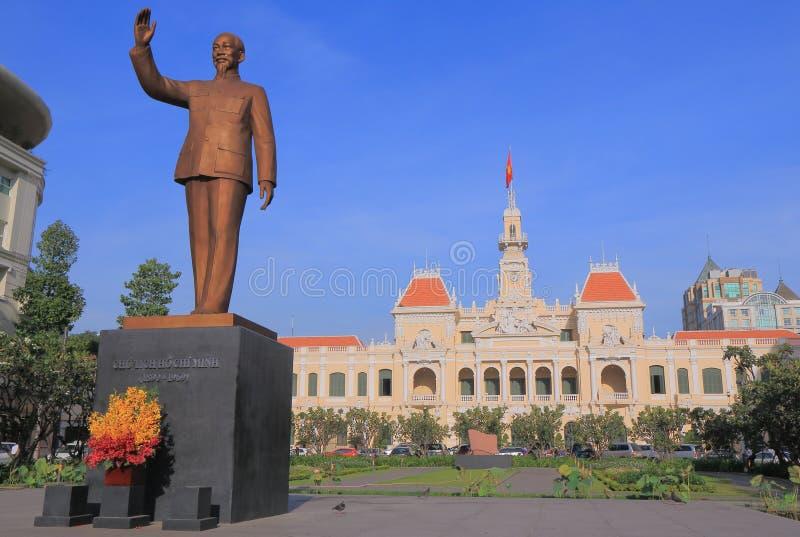 香港大会堂胡志明市西贡越南 免版税图库摄影