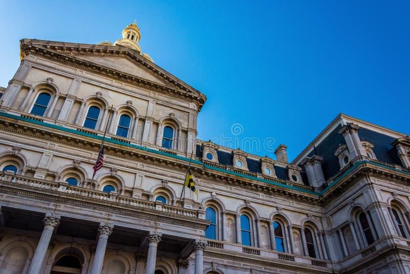 香港大会堂,在巴尔的摩,马里兰 免版税图库摄影
