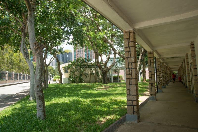 香港大学宿舍走廊 图库摄影