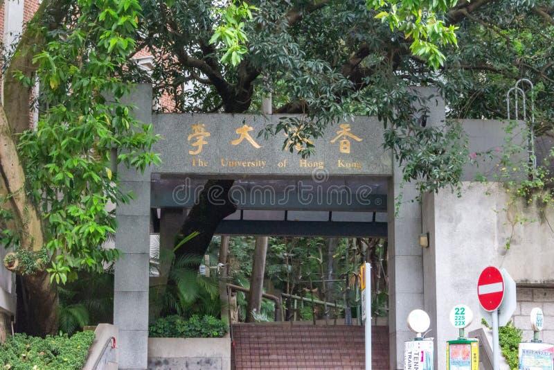 香港大学 库存图片