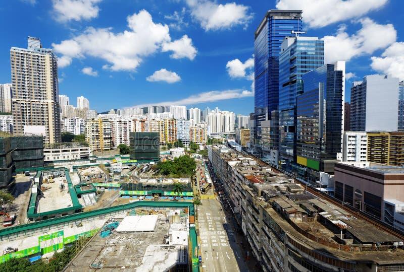 香港天,观塘分散 免版税图库摄影