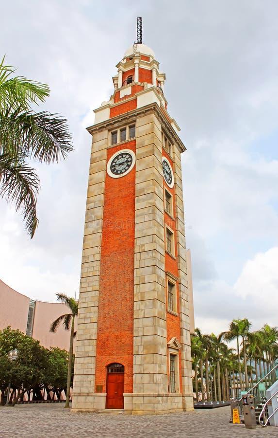 香港尖沙咀钟楼在香港,中国 库存图片