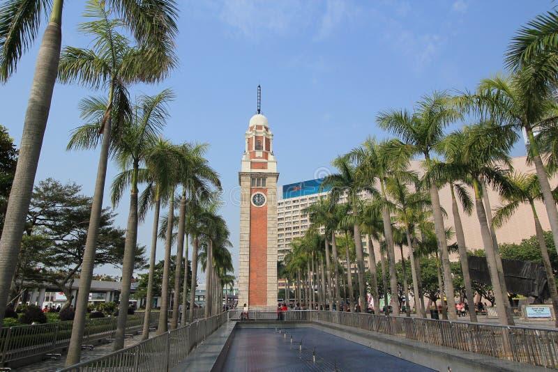 香港尖沙咀钟楼 免版税图库摄影
