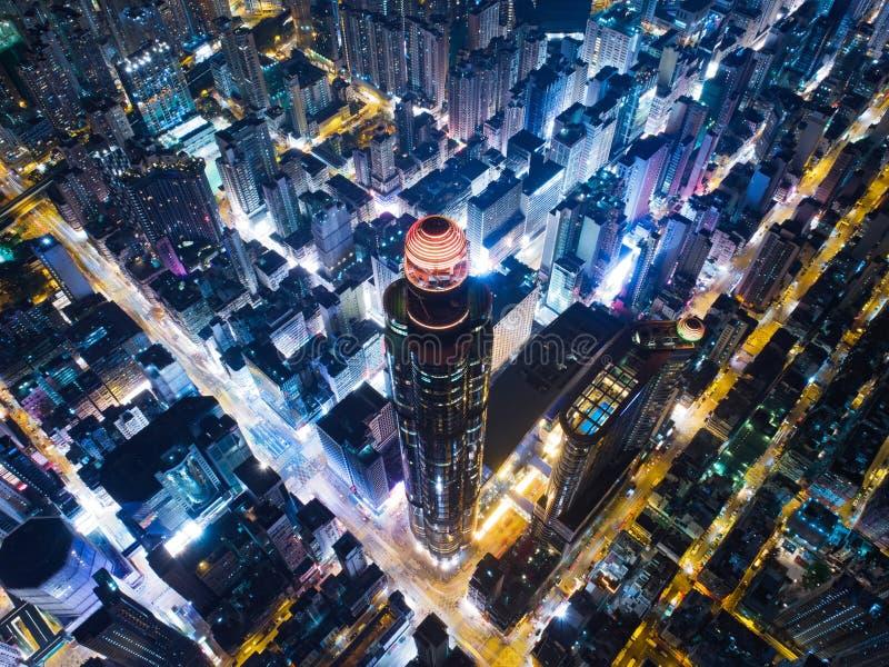 香港市夜视图 库存图片