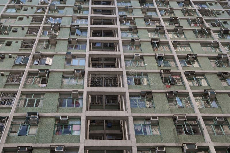 香港廉价公寓 库存图片