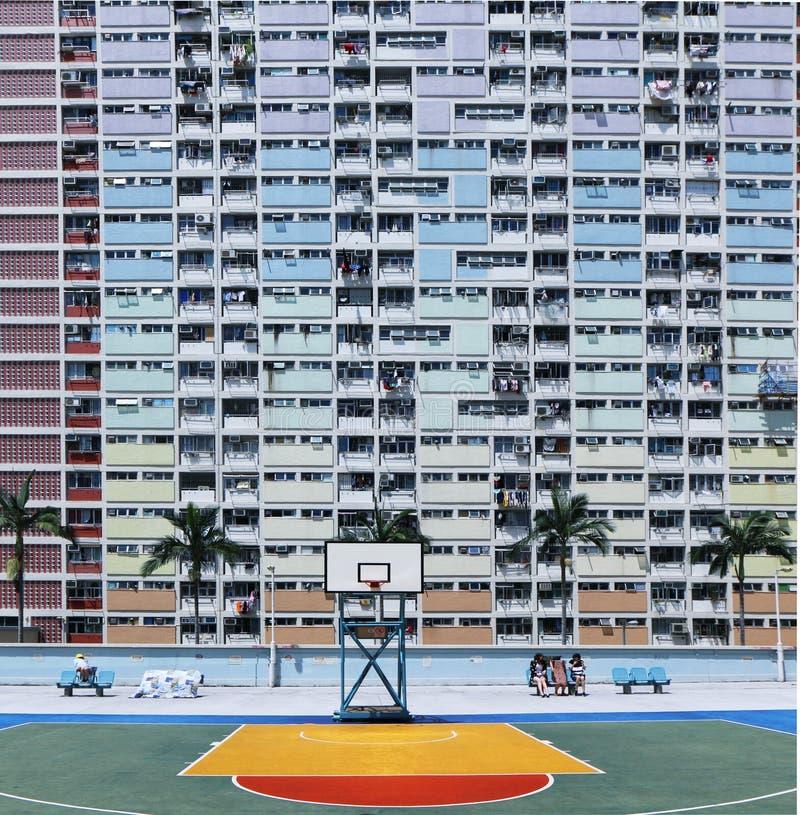 香港彩虹村庄  库存图片