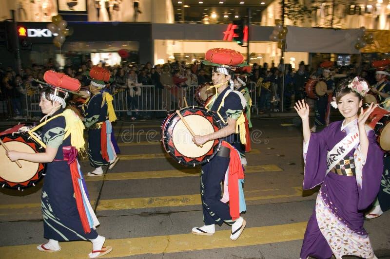 香港新的游行年 免版税图库摄影