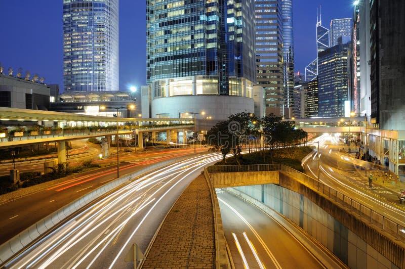 香港晚上业务量 库存照片