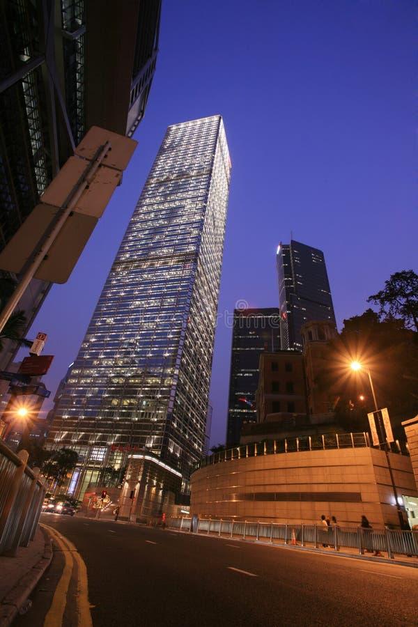 香港晚上场面 图库摄影