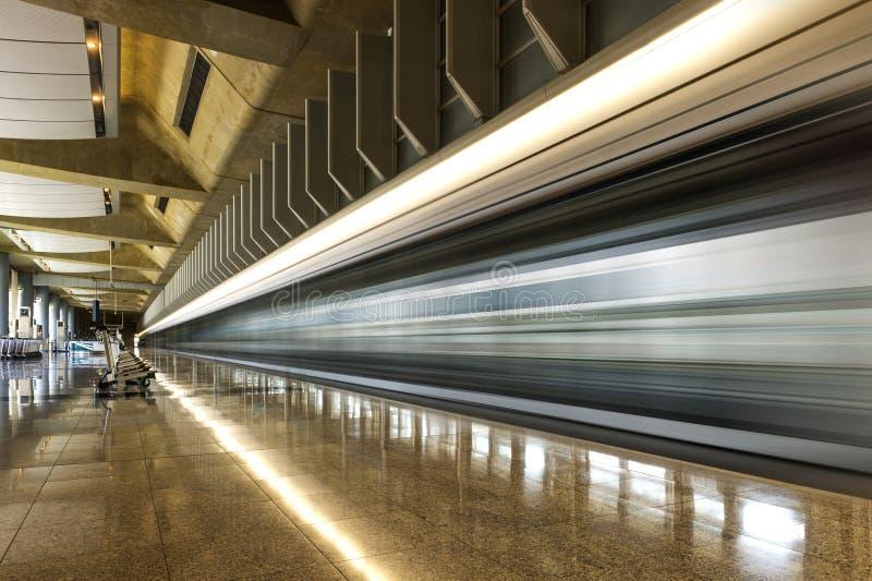 香港机场现代建筑学  库存照片